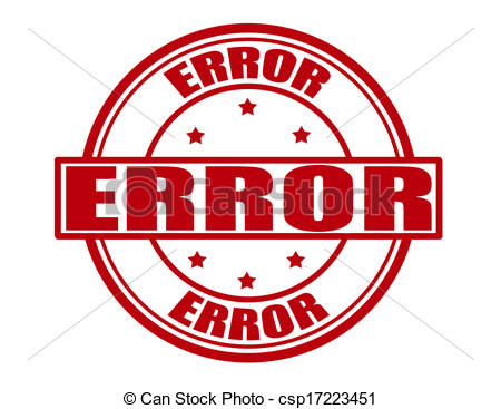 Clipart Vector of Error.