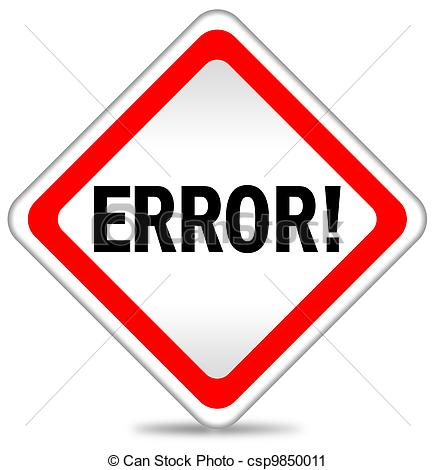 Clipart of Error icon illustration csp9850011.