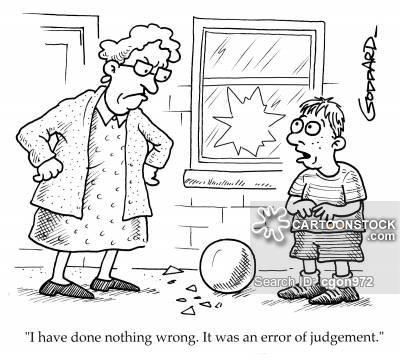 Error Of Judgement Cartoons and Comics.
