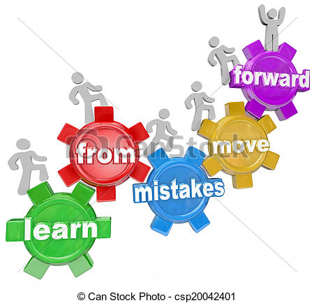 Stock Photography of Learn From Mistakes Move Forward People.
