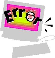 Computer error clipart.