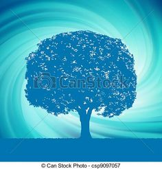 Oak tree illustrations and clipart.
