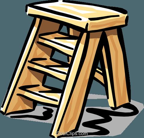 Escada portátil livre de direitos Vetores Clip Art.