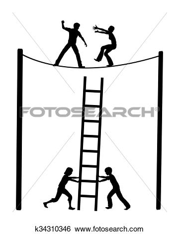 Stock Illustration of Escalating Fight in Marriage k34310346.