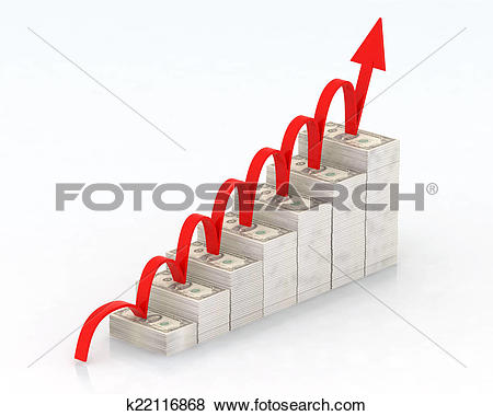 Stock Illustration of escalation of dollars k22116868.