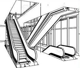 Escalator clipart - Clipground