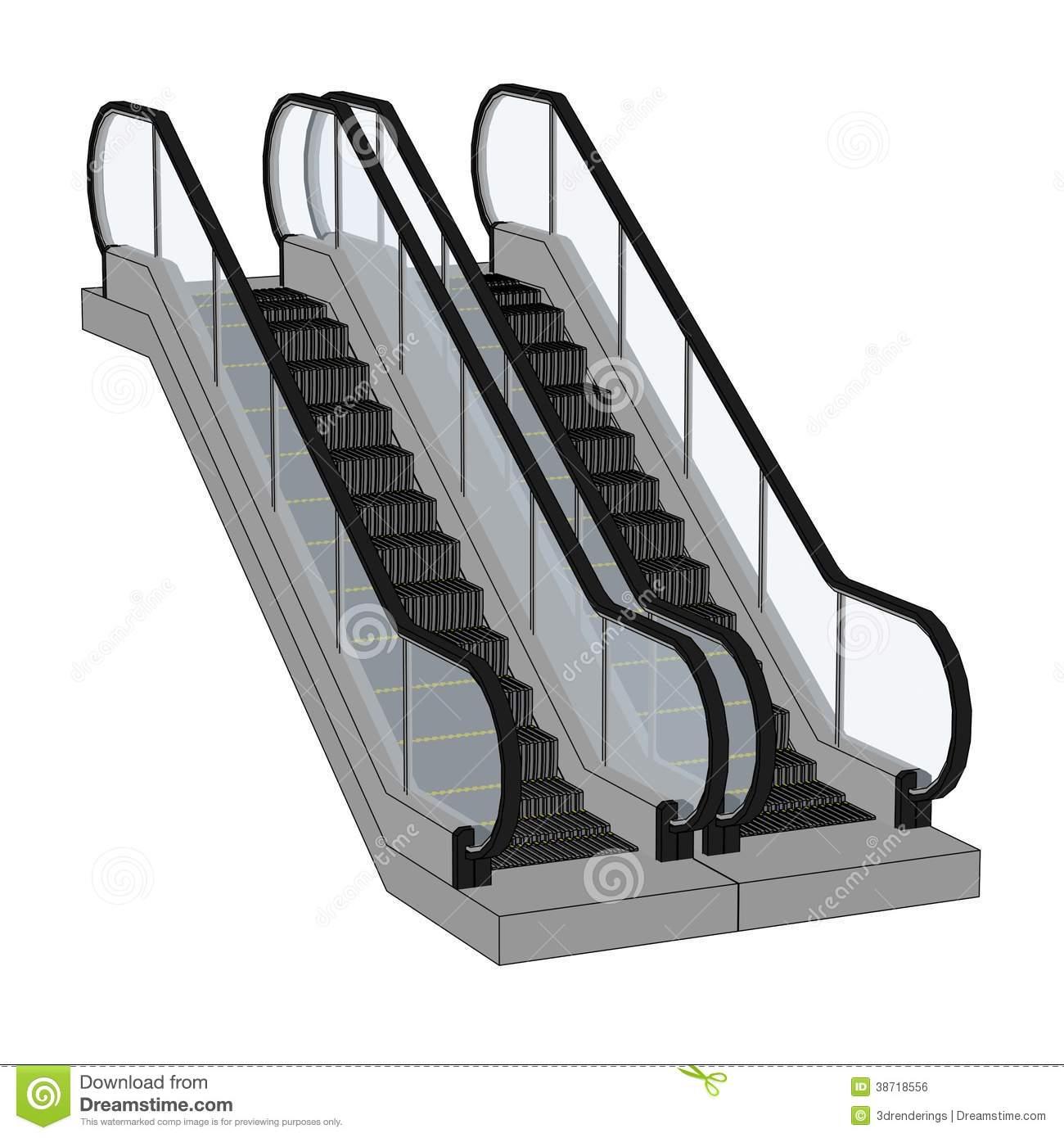 Escalator Clip Art Black and White.