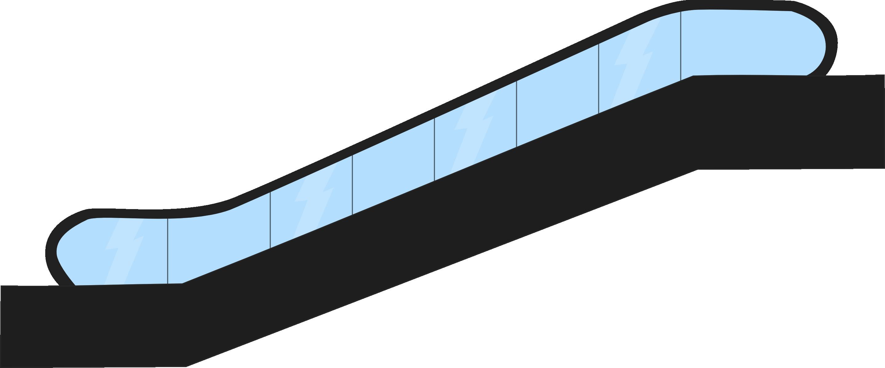 Escalator clipart #6