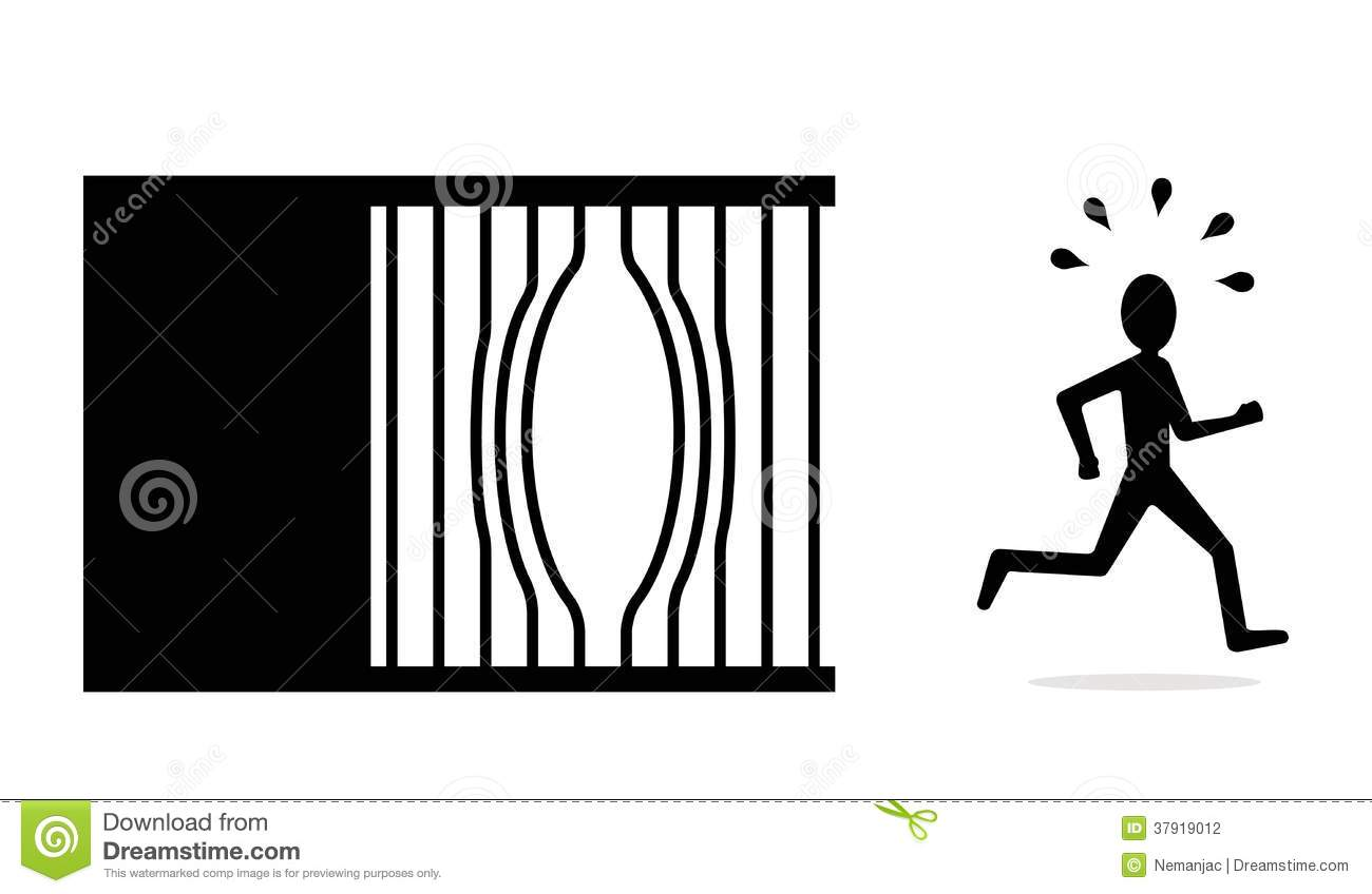 Jail escape clipart.