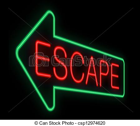 Clipart of Escape sign..