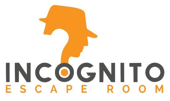 Incognito Escape Room logo.