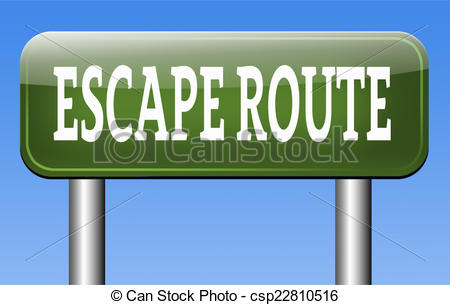 Clipart of escape route to safety emergency exit avoid stress and.