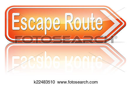 Stock Illustrations of escape route to safety k22483510.