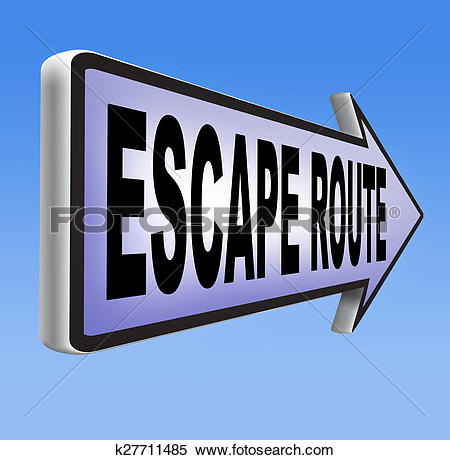 Stock Illustration of escape route to safety k27711485.
