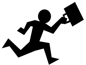 People escaping clipart.