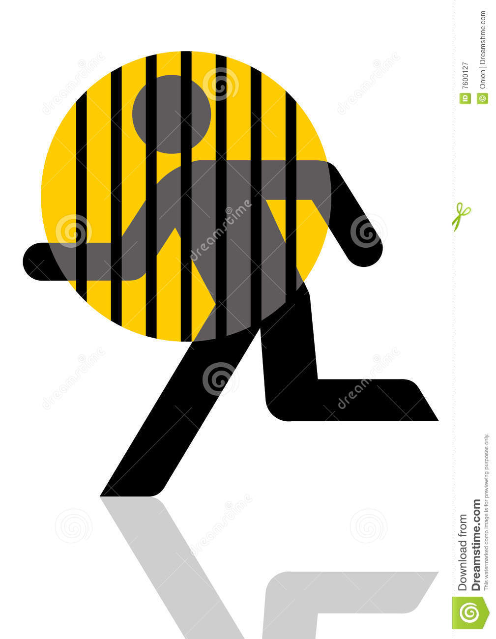 Prisoner Escaping Graphic Royalty Free Stock Photography.
