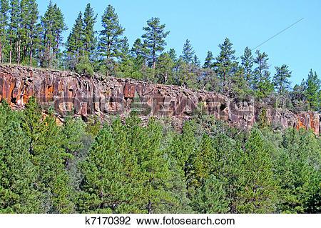 Stock Photo of Basalt Escarpment k7170392.