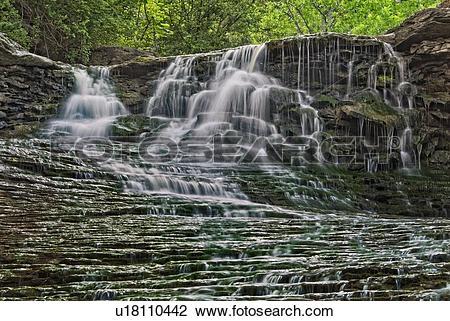 Stock Photo of Beamer Falls on Forty Mile Creek along the Niagara.