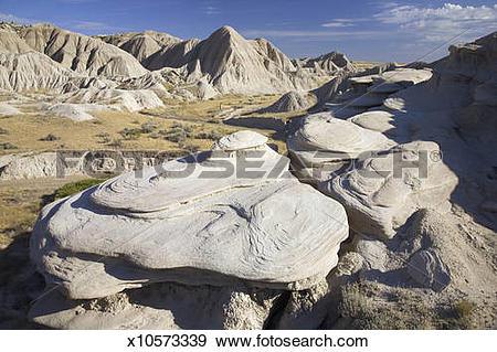 Stock Photograph of USA, Nebraska, Pine Ridge Escarpment, Rock.