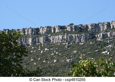 Stock Images of Limestone escarpment skyline.