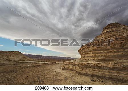 Stock Photography of Escarpment in the judean desert; masada.