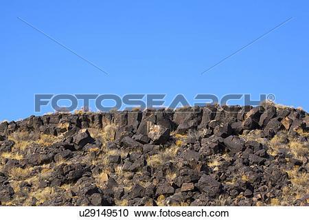Stock Photography of Basalt lava rock escarpment u29149510.