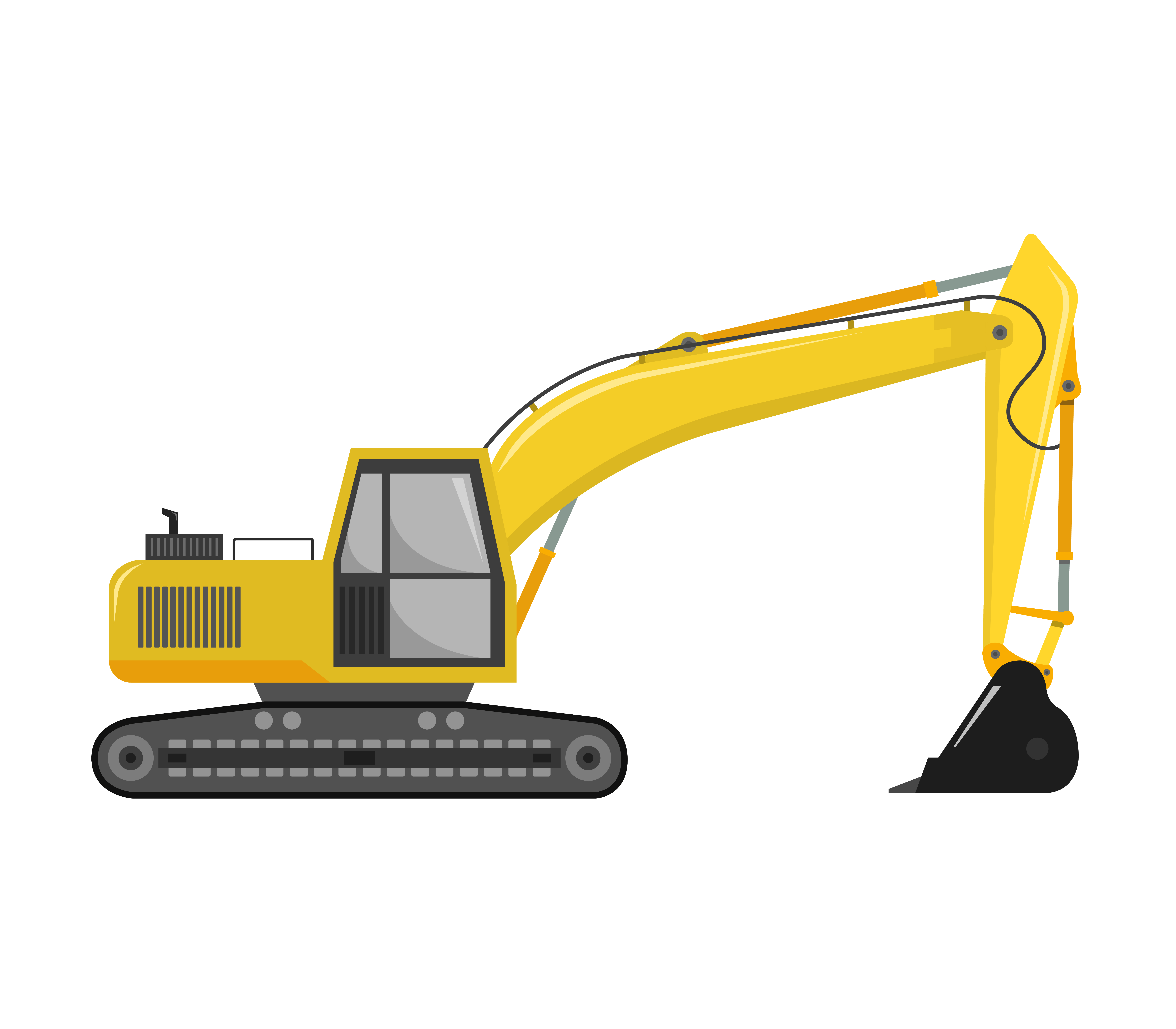 Excavator icon on a white background.