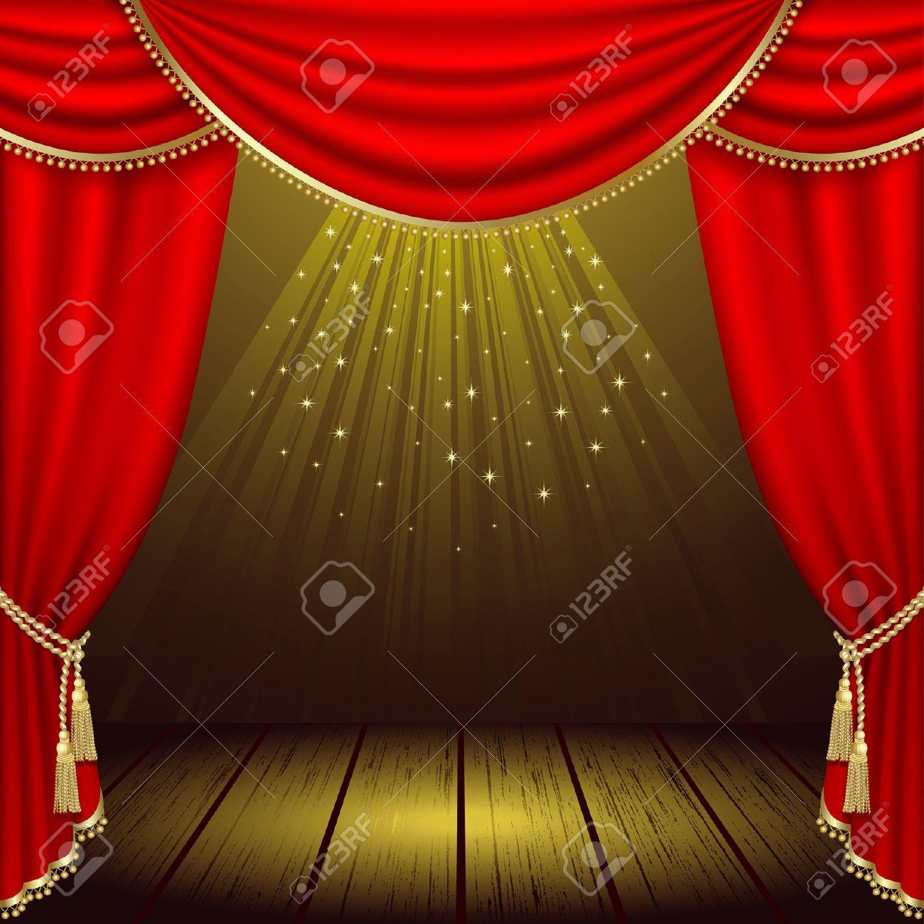 Resultado de imagen de clipart de un teatrocon escenario.