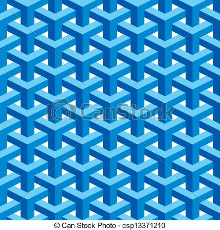 Vector Clip Art of Seamless Escher Pattern.