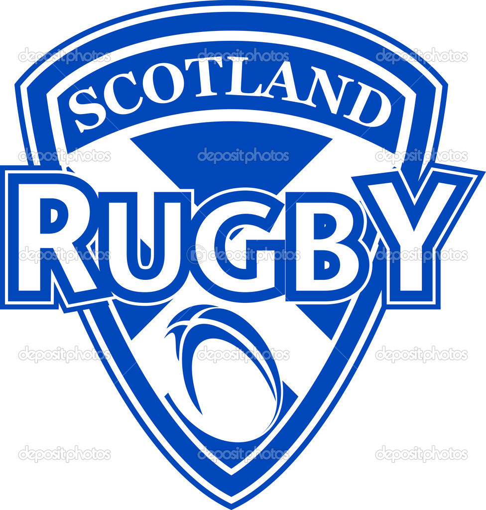 Rugby ball shield scotland flag — Stock Photo © patrimonio #5078834.