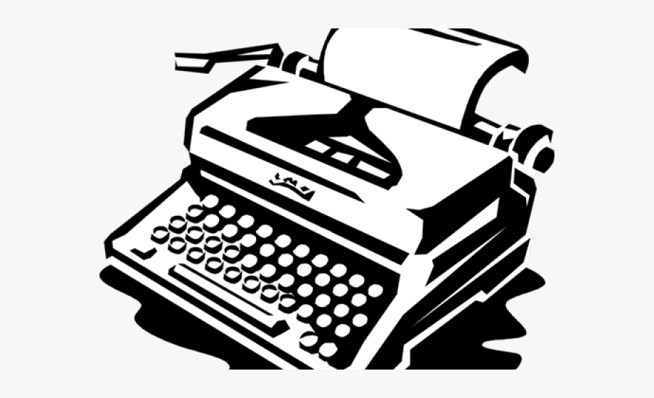 Typewriter Clipart Free Vector.