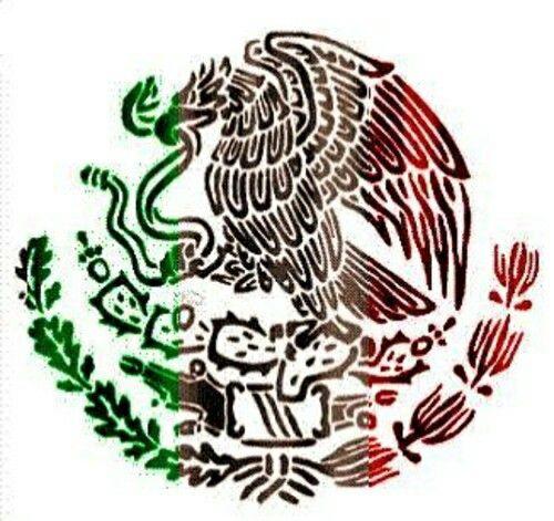 Mexican flag symbol en 2019.