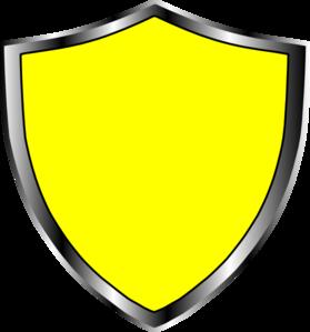 Escudo Medieval Amarelo Clip Art at Clker.com.
