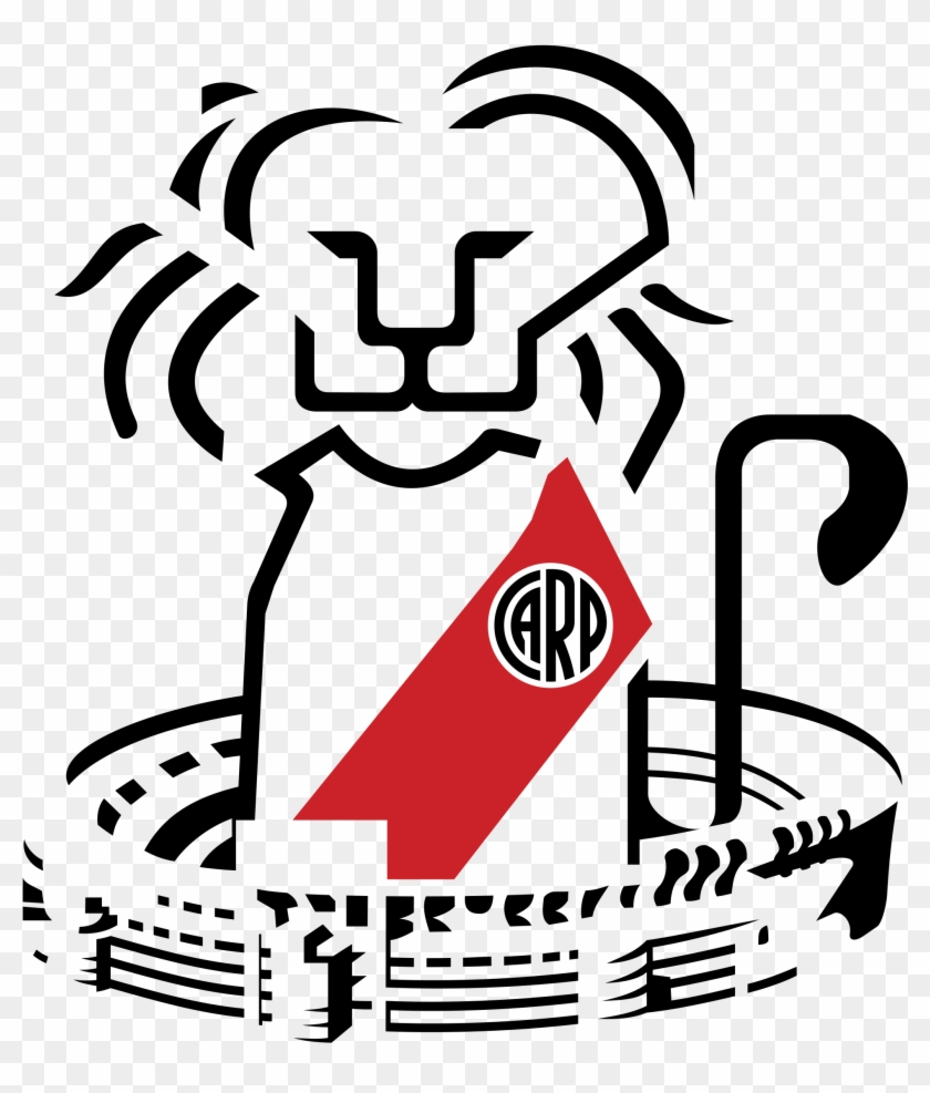 Club Atletico River Plate Logo Black And White.
