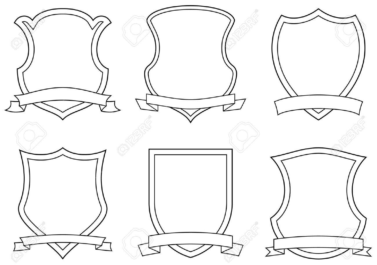 Conjunto De Vectores Emblemas, Escudos Y Pergaminos Ilustraciones.