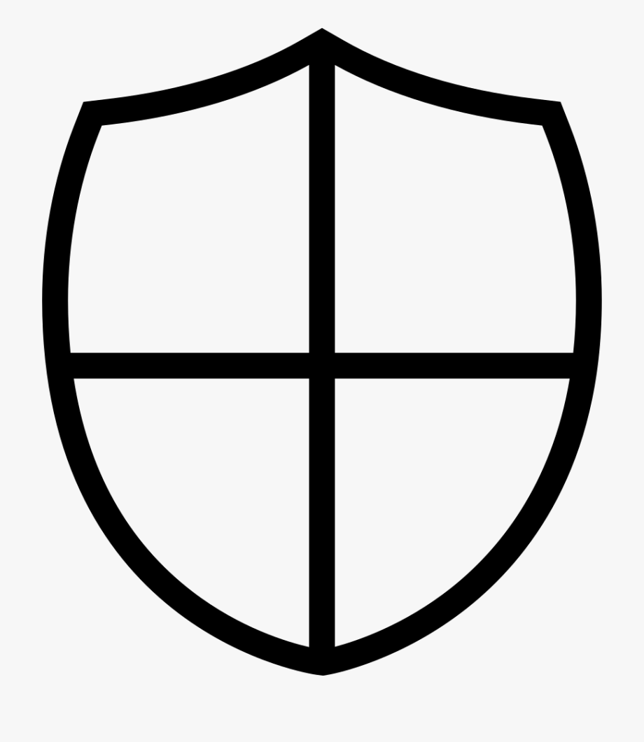 Shield Little Shape With A Cross Svg Png Icon Free.