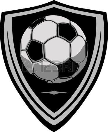 Plantilla de fútbol con escudo.