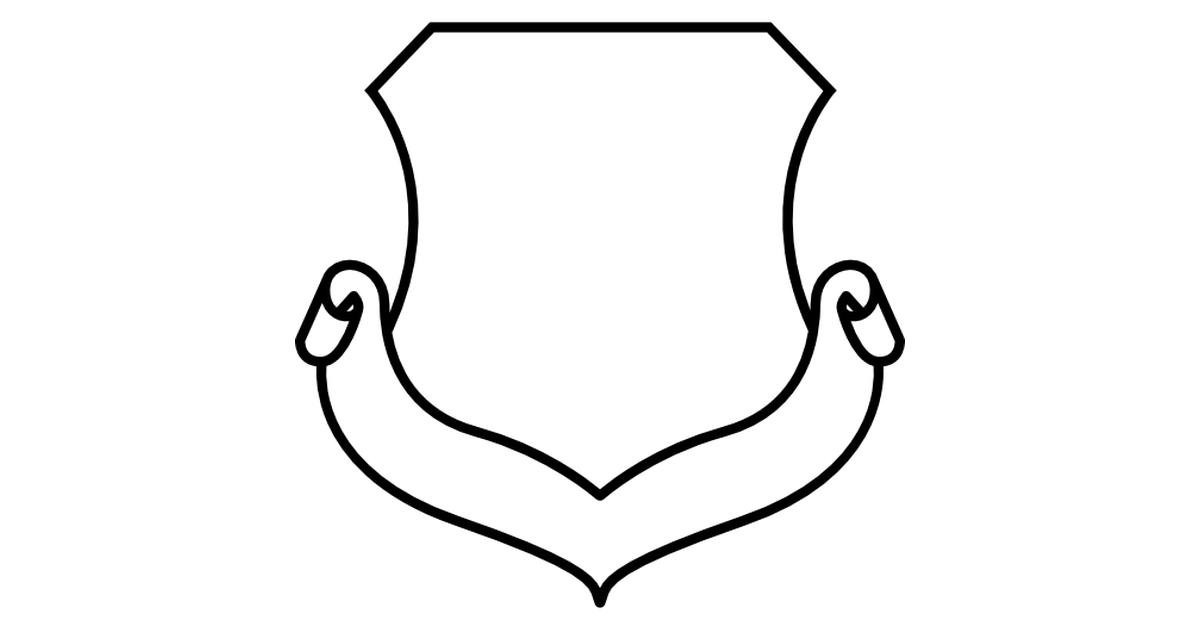 escudo de forma blanca con una cinta.