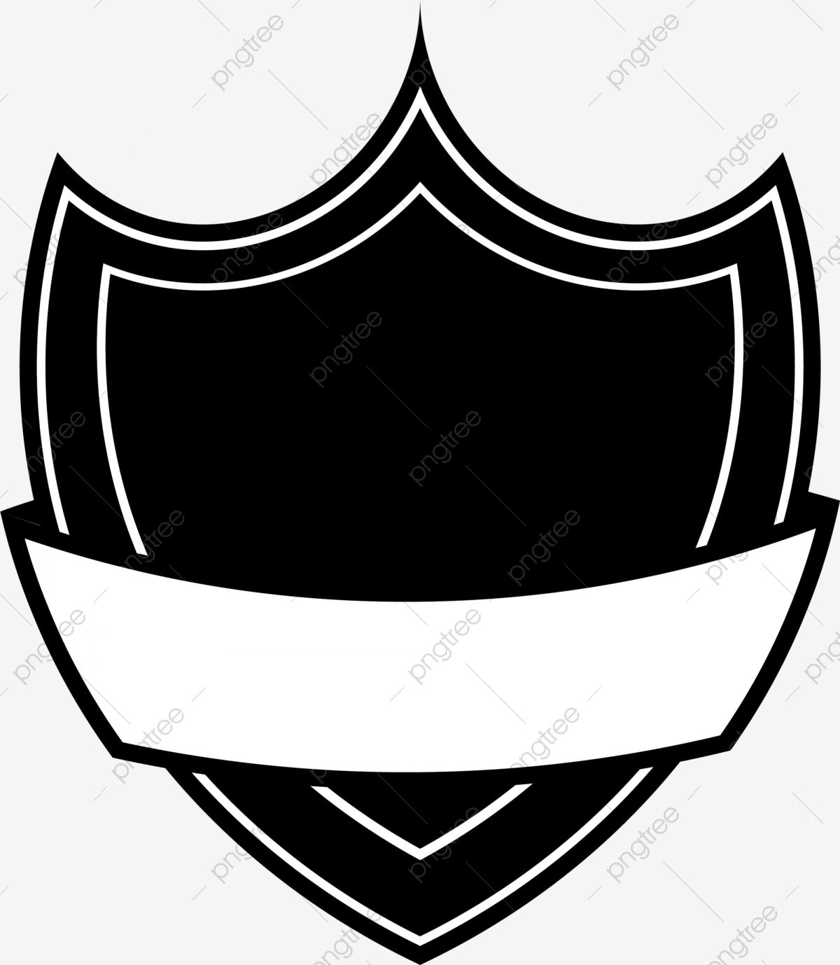 Escudo Negro Minimalista, Black, Simple, Escudo Imagen PNG para.