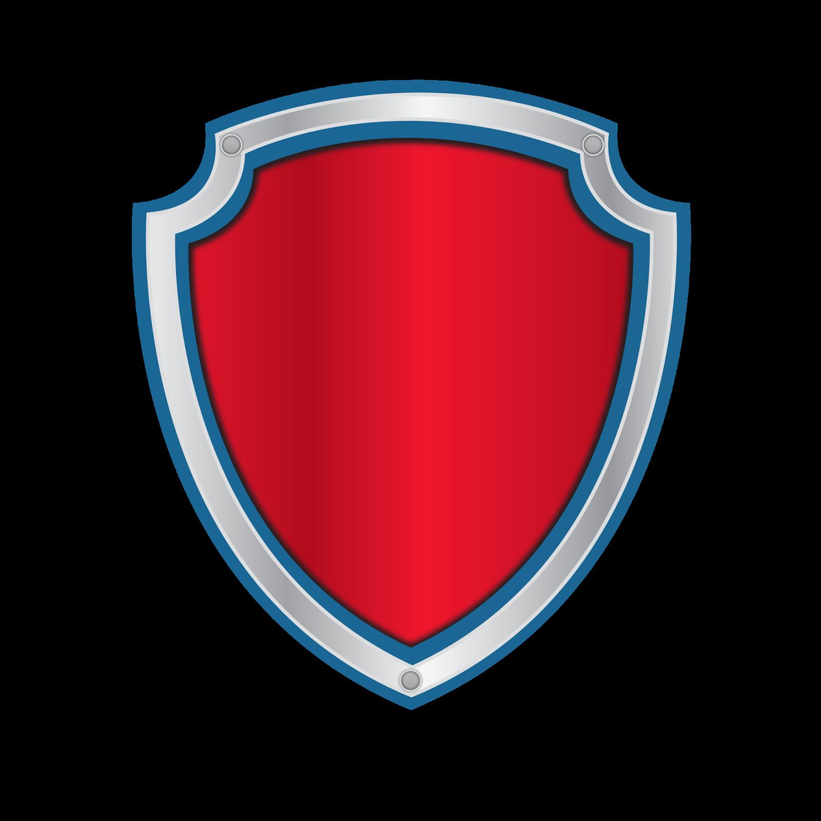 Alfabeto para Escudos de Paw Patrol para Imprimir Gratis..