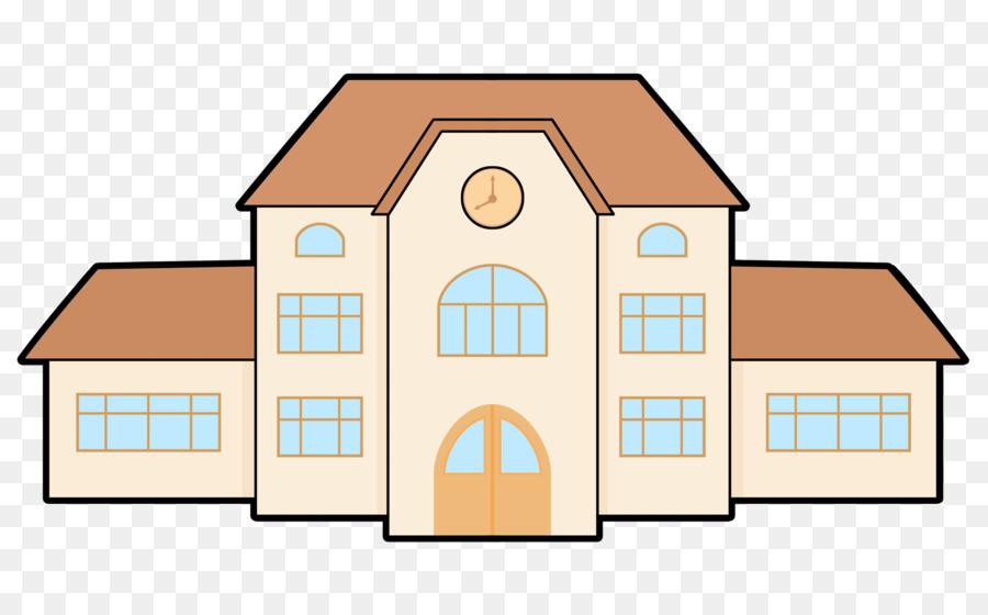 School Building Cartoon png download.