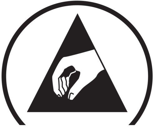 The Electrostatic Discharge (ESD) Protection Symbol.