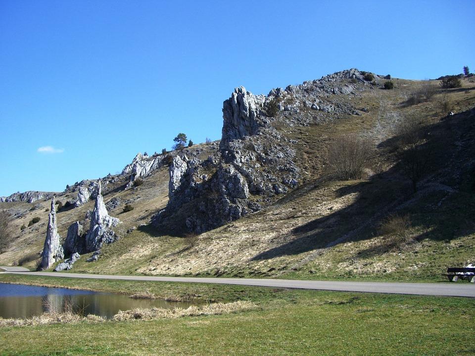 Free photo: Swabian Alb, Eselsburg Valley.