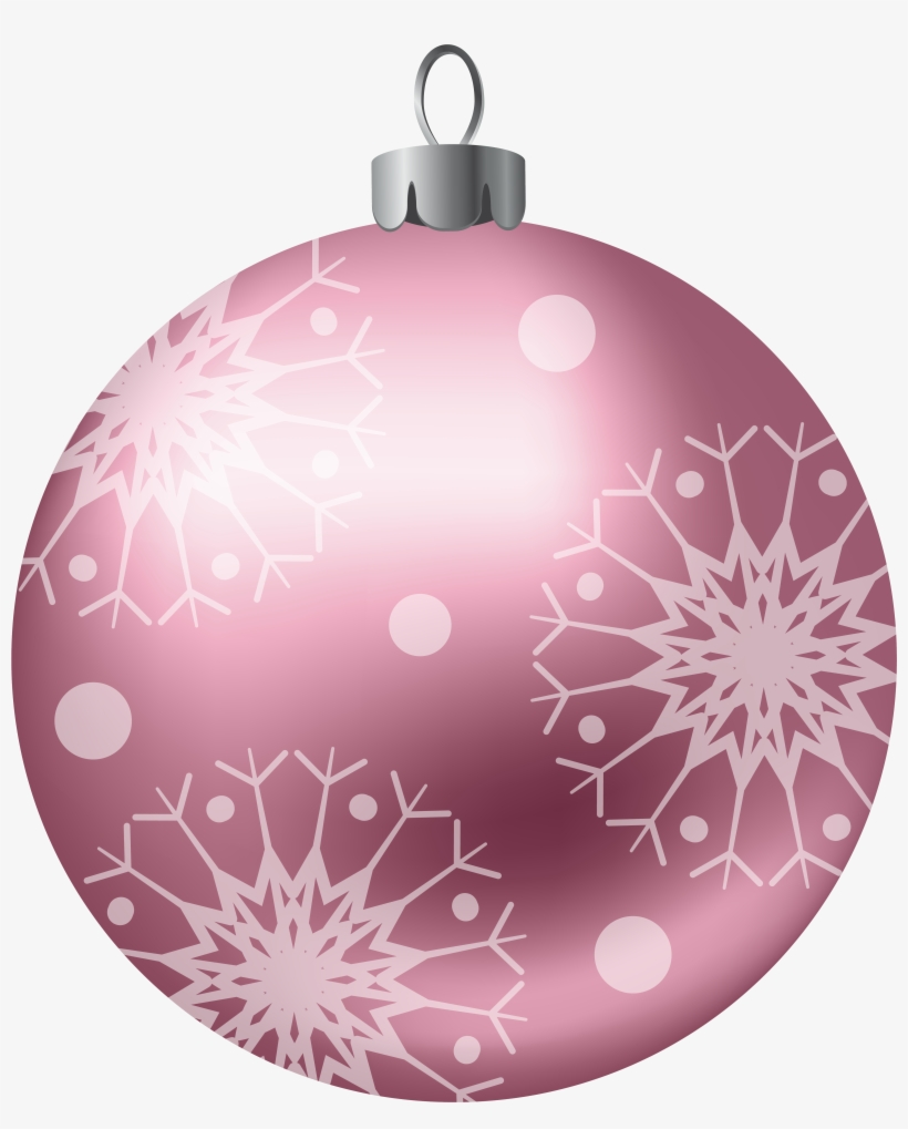 Christmas Ball Pink Png Clipart Image.