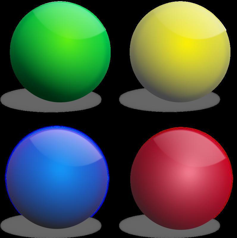 Free Clipart: Color spheres, Esferas de colores.