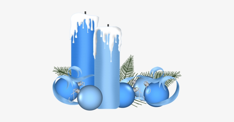 Png Christmas Candles Clipart Transparent.