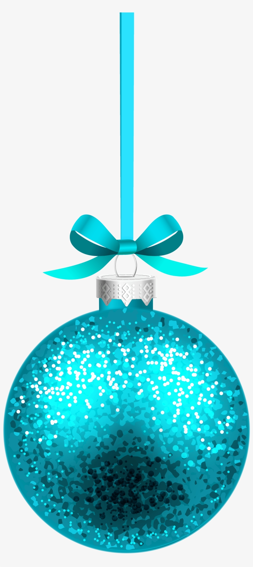 Blue Christmas Hanging Ball Png Clipart Image.