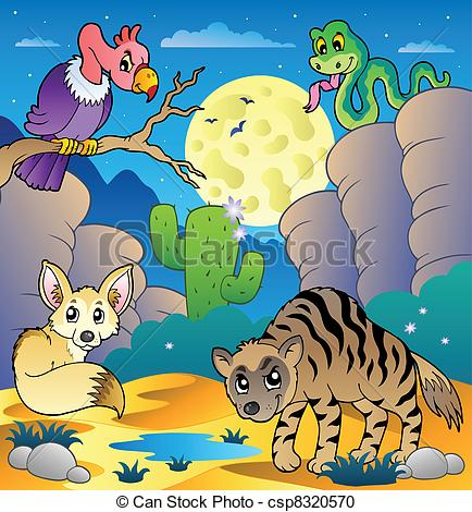 Desert Animals Clipart.