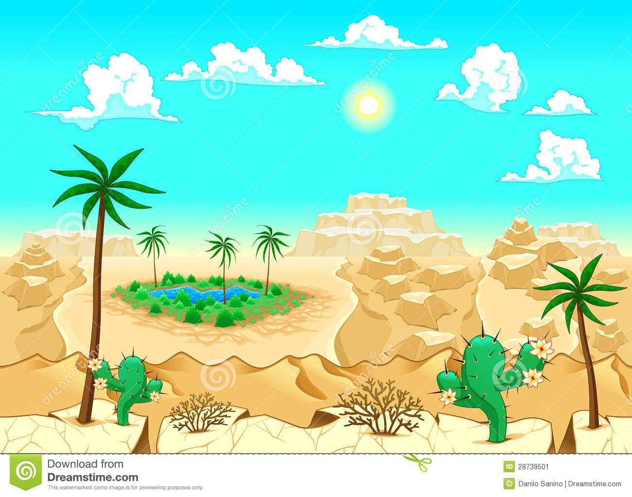 Oase wüste clipart.