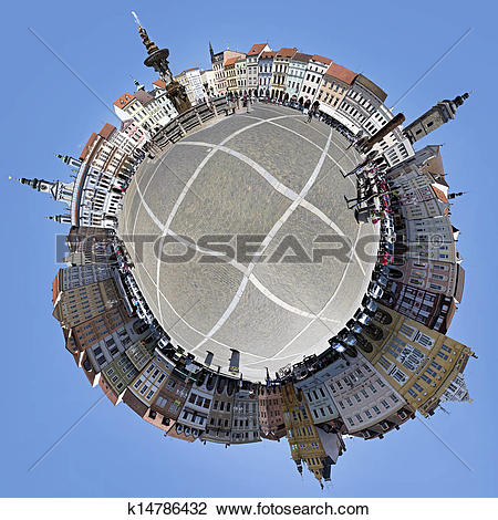 Clip Art of Square in the historic center of ?eské Bud?jovice.